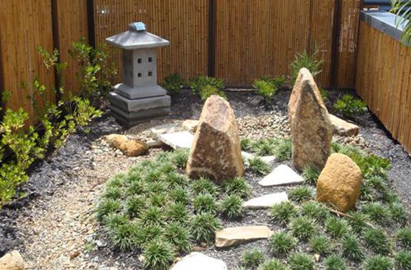 Rock garden display